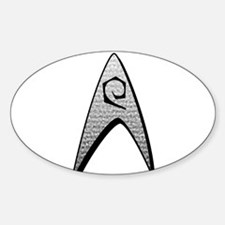 Star Trek Engineer Badge Insignia Sticker (Oval)
