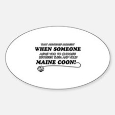 Maine Coon breed designs Sticker (Oval)