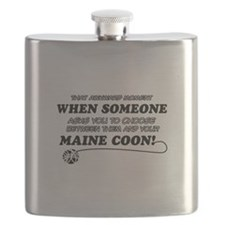 Maine Coon breed designs Flask