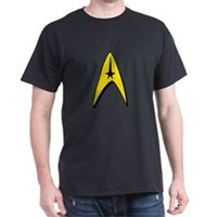 Star Trek Captain Badge Insignia Dark T-Shirt
