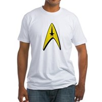 Star Trek Captain Badge Insignia Fitted T-Shirt