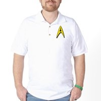 Star Trek Captain Badge Insignia Golf Shirt