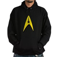 Star Trek Captain Badge Insignia Hoodie (dark)
