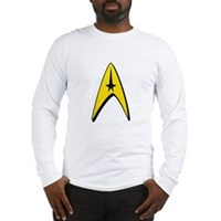 Star Trek Captain Badge Insignia Long Sleeve T-Shi