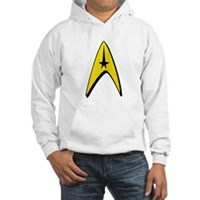 Star Trek Captain Badge Insignia Hooded Sweatshirt