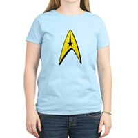 Star Trek Captain Badge Insignia Women's Light T-S