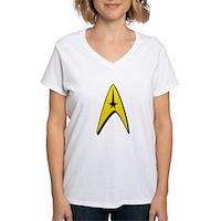 Star Trek Captain Badge Insignia Women's V-Neck T-