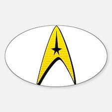 Star Trek Captain Badge Insignia Sticker (Oval)