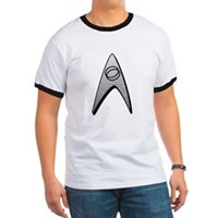 Star Trek Science Badge Insignia Ringer T