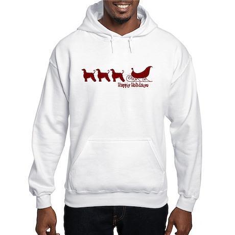 "Afghan Hound ""Sleigh"" Hooded Sweatshirt"