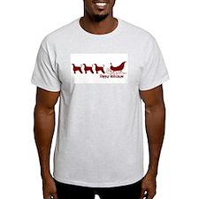 "Afghan Hound ""Sleigh"" Ash Grey T-Shirt"