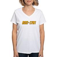 NCC-1701 Women's V-Neck T-Shirt