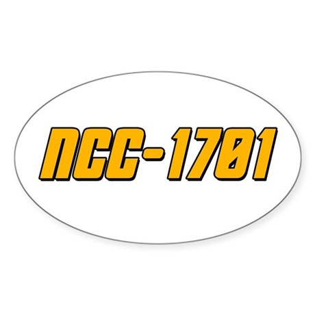NCC-1701 Sticker (Oval)