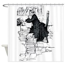 Thoughful reader Shower Curtain