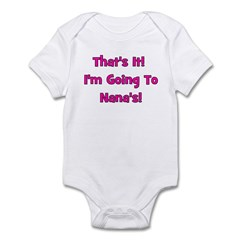 Going To Nana's! Pink Infant Bodysuit