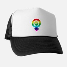 Rainbow Feminist Trucker Hat