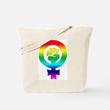 Rainbow Feminist Tote Bag