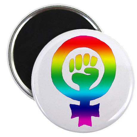 "Rainbow Feminist 2.25"" Magnet (10 pack)"