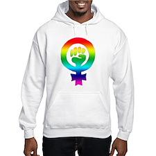 Rainbow Feminist Jumper Hoody
