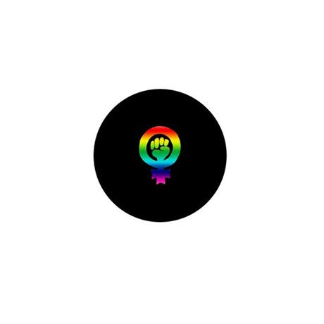 Rainbow Feminist Mini Button (100 pack)