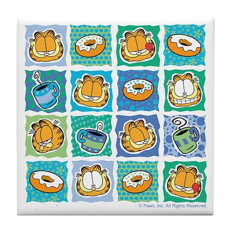 Coffee & Doughnuts Tile Coaster