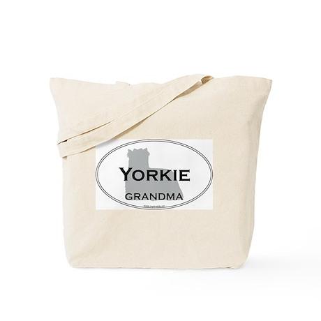 Yorkie GRANDMA Tote Bag