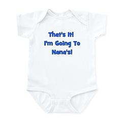 Going To Nana's! Blue Infant Bodysuit