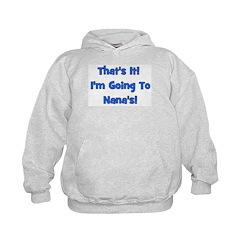 Going To Nana's! Blue Hoodie