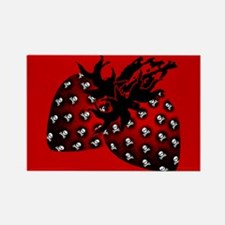Gothic Strawberries Rectangle Magnet