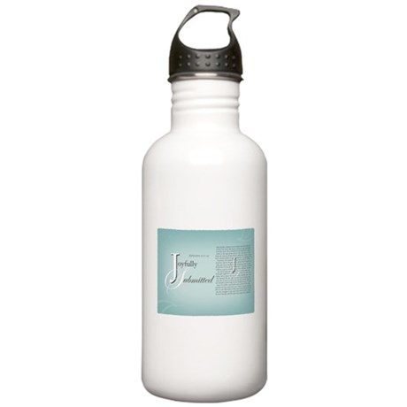 Joyfully Submitted logo and verses Water Bottle