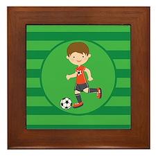 Soccer Boy Framed Tile