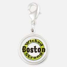 WS Bruins Classic Silver Round Charm