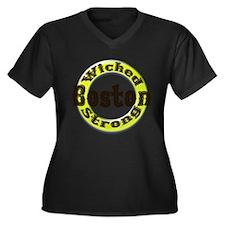 WS Bruins Classic Women's Plus Size V-Neck Dark T-