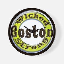 WS Bruins Classic Wall Clock