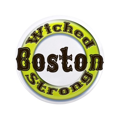 """WS Bruins Classic 3.5"""" Button (100 pack)"""