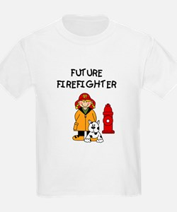 Future Firefighter (Girl) Kids T-Shirt