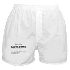 RULES OF THE LABOR COACH Boxer Shorts