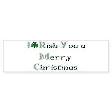 Irish Christmas Bumper Bumper Sticker