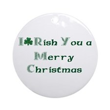 Irish Christmas Ornament (Round)