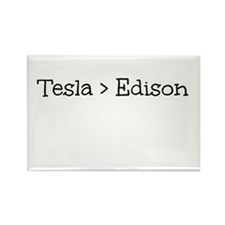 Tesla Greater Than Edison Rectangle Magnet