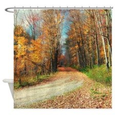 Rustic Country Road Shower Curtain