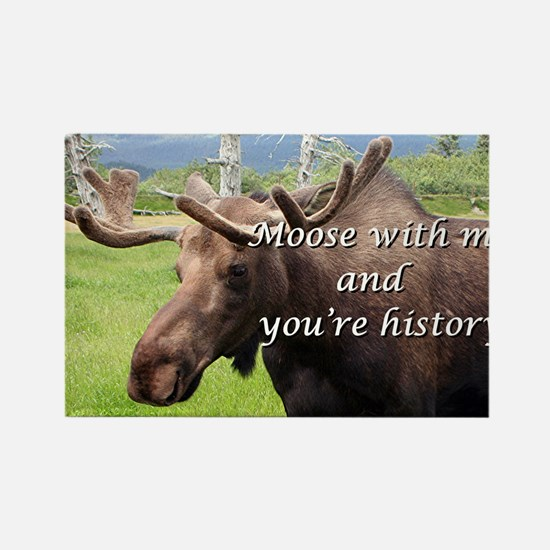 Moose with me and you're history: Alaskan moose Re