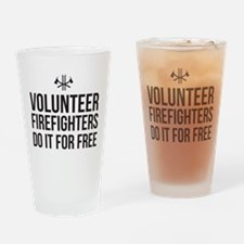 Volunteer Firefighters Do it for Free Drinking Gla