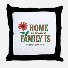 HOME IS WHERE FAMILY IS Throw Pillow