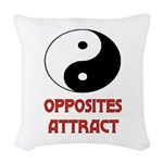 OPPOSITES ATTRACT Woven Throw Pillow