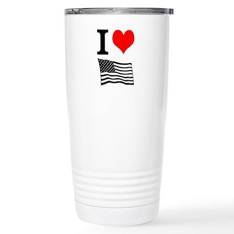 I Heart America Travel Mug