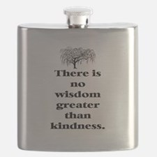 WISDOM GREATER THAN KINDNESS (TREE) Flask