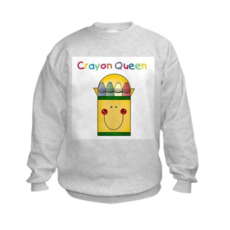 Crayon Queen Kids Sweatshirt