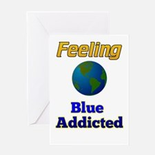 Blue Addicted Greeting Cards