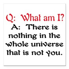 "WHAT AM I? Square Car Magnet 3"" x 3"""